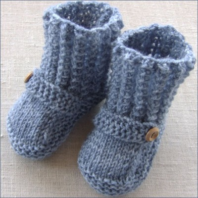 MOCK CABLED BOOTIES