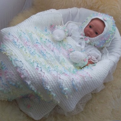 LACE CAR SEAT BLANKET SET
