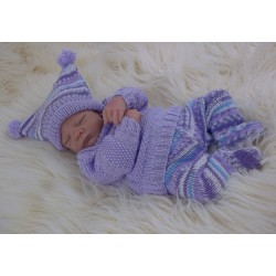 BABY SWEATER LEGGINGS & HAT SET