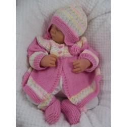 MATINEE STYLE BABY CARDIGAN SET