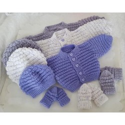 SNUGGLY BABY CARDIGAN SET