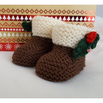 CHRISTMAS PUDDING BOOTIES